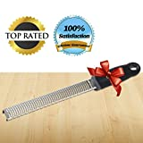 Lemon Zester Cheese Grater #1 Chef Rated 2-in-1 Premium Professional Kitchen Tool with Channel Cover Best Durable Stainless Steel to Easily Grate or Zest All Citrus, Lemon, Lime, Oranges, Cheeses, Garlic, Coconut, Spices, Nuts, Chocolate and More! 100% Lifetime Guarantee