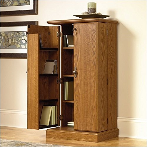 Sauder Orchard Hills Multimedia Storage Cabinet, Carolina Oak Finish (Media Cabinets compare prices)