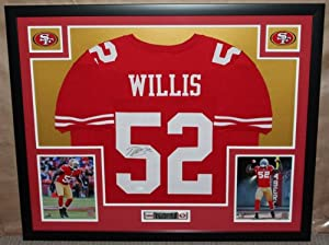 Buy Patrick Willis Autographed and Framed Red 49ers Jersey Auto JSA Certified (Only $3.95 to ship) by Premier Sports Collectibles