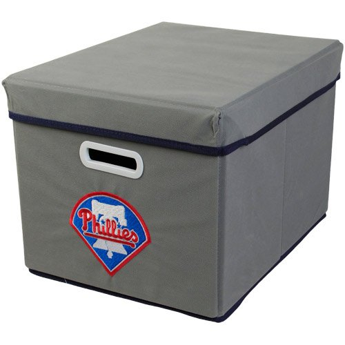 MLB Philadelphia Phillies Fabric Storage Cube, One Size, Gray at Amazon.com