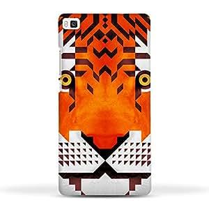 FUNKYLICIOUS Huawei Ascend P8 Back Cover Triangle Tiger Design (Multicolour)
