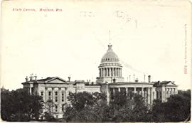 1909 Vintage Postcard - State Capitol Building - Madison Wisconsin