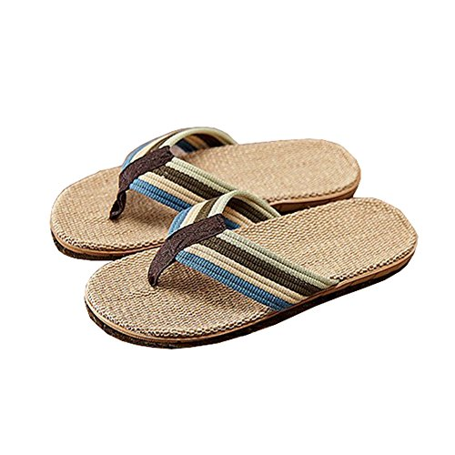 Unisex Flip-folps Linen Moisture Wicking Thongs Open Toe Sandals Shoes Non-slip Slipper, Men's Size (Flip Flops Men Old Navy compare prices)