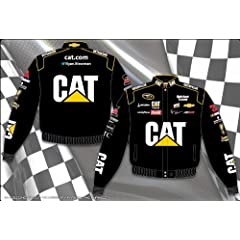 2014 Ryan Newman CAT Mens Black Twill Nascar Jacket 4X by J.H. Design