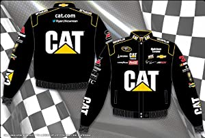 2014 Ryan Newman CAT Mens Black Twill Nascar Jacket Medium by J.H. Design