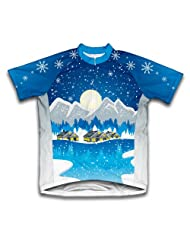 Winter wonderland Short Sleeve Cycling Jersey for Women