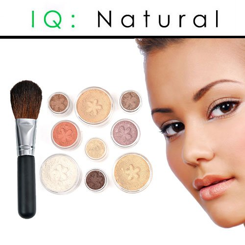 IQ Natural Large Pure Minerals Makeup Starter Set with Brush Medium Shade Under 30.00!