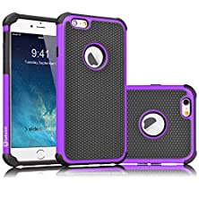 buy Iphone 6S Case, Tekcoo(Tm) [Tmajor Series] Iphone 6 / 6S (4.7 Inch) Case Shock Absorbing Hybrid Best Impact Defender Rugged Slim Cover Shell W/ Plastic Outer & Rubber Silicone Inner [Purple/Black]