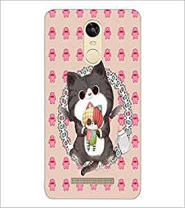 PrintDhaba Kitty D-4267 Back Case Cover for XIAOMI REDMI NOTE 3 (Multi-Coloured)