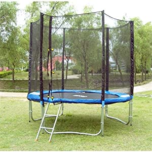 sixbros sport xxl professional gartentrampolin trampolin 2 45 m t245 leiter. Black Bedroom Furniture Sets. Home Design Ideas