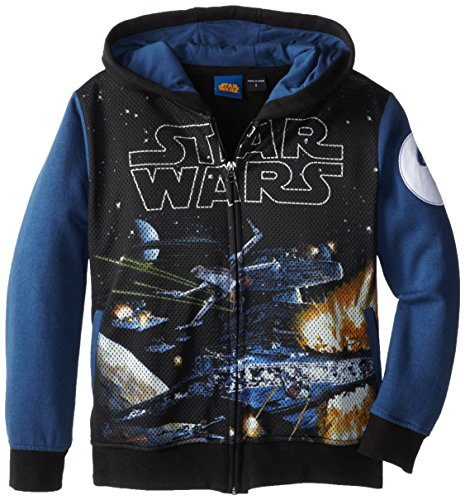 Star Wars Little Boys' Deep Stars Juvy, Black/Navy, 4