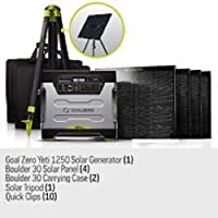 Goal Zero Yeti 1250 Solar Generator Kit ...