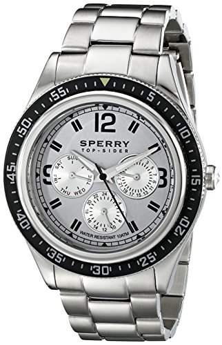 Sperry Top-Sider Men'S 10015148 Bayside Analog Display Japanese Quartz Silver Watch