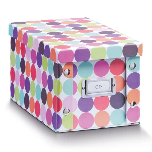 Zeller-17890-CD-box-Dots-Pappe-165-x-28-x-15-cm