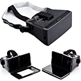 Leegoal Virtual Reality 3D Video Glasses for 4.0-5.6inch Smartphone iPhone Samsung HTC,Black