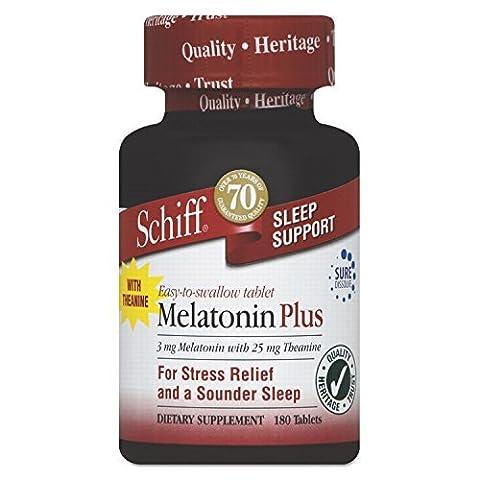 SCHIFF VITAMINS MELATONIN PLUS TABLETS, 180 TAB by SCHIFF - Schiff Melatonin Plus