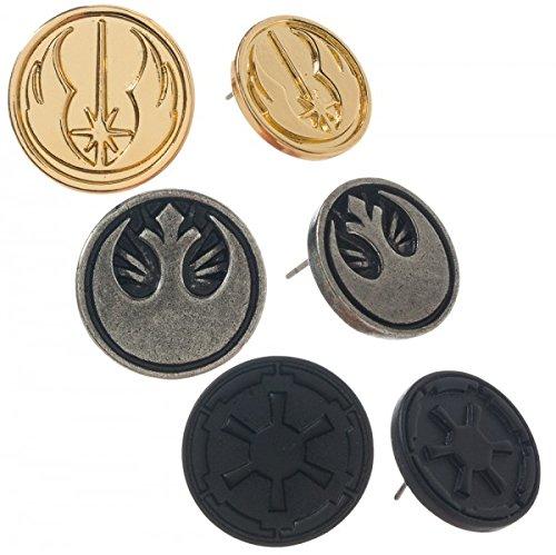 Bioworld Disney's Star Wars Symbol Earring Set