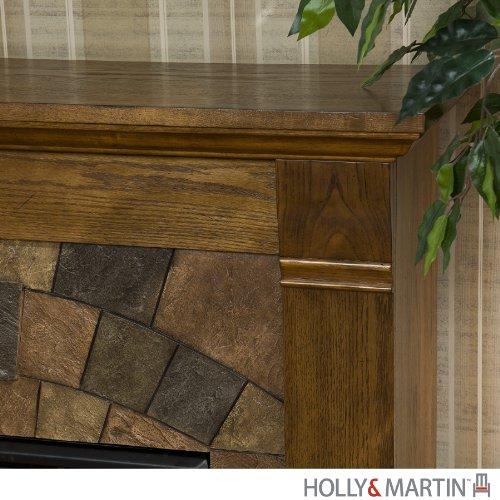 Holly & Martin Underwood Electric Fireplace Oak