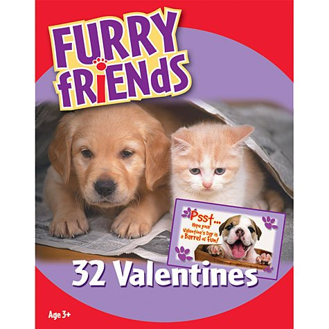 Furry Friends Value Valentine's Day Cards 32ct