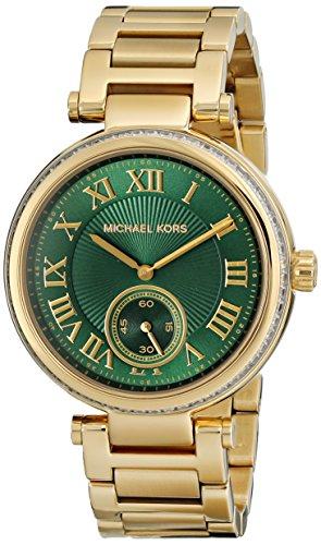 Michael Kors MK6065 41mm Gold Steel Bracelet & Case Mineral Women's Watch