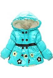 Kids Baby Girls Princess Children's Flower Hooddie Coat Jacket Outwear Snowsuit