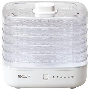 Apice アピックス ドライフードメーカー 「12品目のレシピ付き」 ホワイト AFD-550-WH