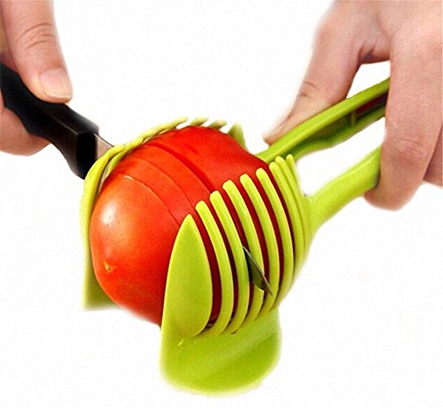 ✨ Net Solutions ✨ Trancheuse à tomates, pommes de terre, citrons, et beaucoup d'autres ... avec un support pour tenir fermement l'outil