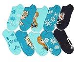Disney Frozen Blue No-Show Socks 5 Pair