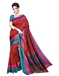 SUDARSHAN ART SILK SAREE -Red-DFM126-VS-Art Silk
