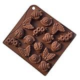 YOKIRINR昆虫型ケーキクッキーチョコレート石鹸粘土キャンドルモールド型シリコンDIY道具手作り