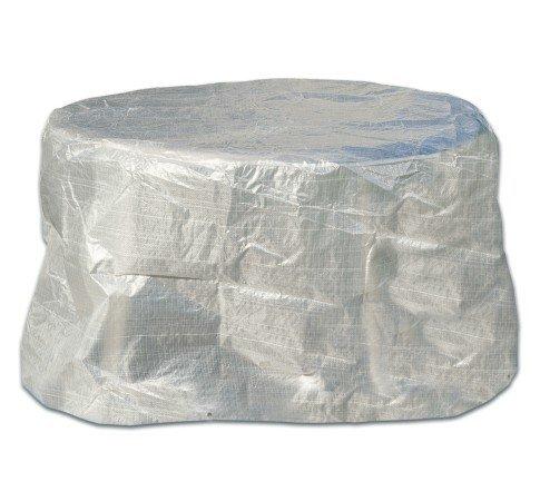 Schutzhülle für Gartentisch Gartenmöbel transparent Oval 160x95x75 günstig online kaufen