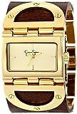 Jessica Simpson Women's JS026C Rectangle Case Analog Leather Cuff Watch