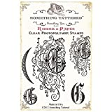 Something Tattered G Initial Monogram Clear Stamps, 4 by 4-Inch