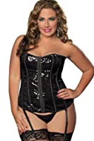 Seven Til Midnight Women's Plus-Size Sparkle and Shine Bustier by Seven Til Midnight