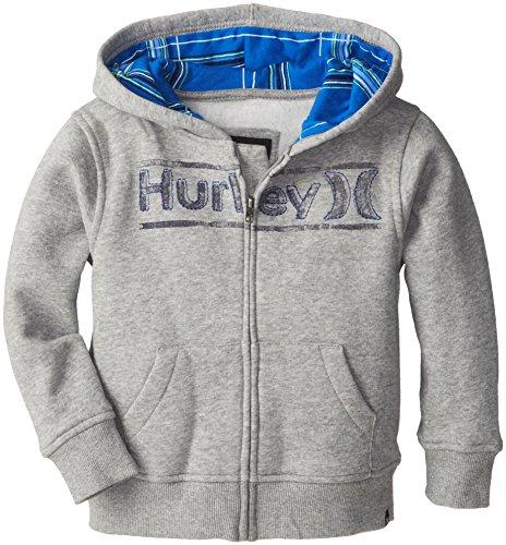 Hurley Little Boys' Puerto Rico Lf Hoody, Grey Heather, 3T front-38509