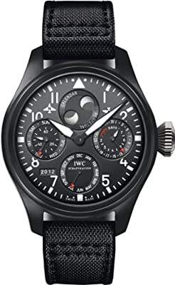 IWC Big Pilot Perpetual Top Gun Black Dial Mens Watch 5029-02