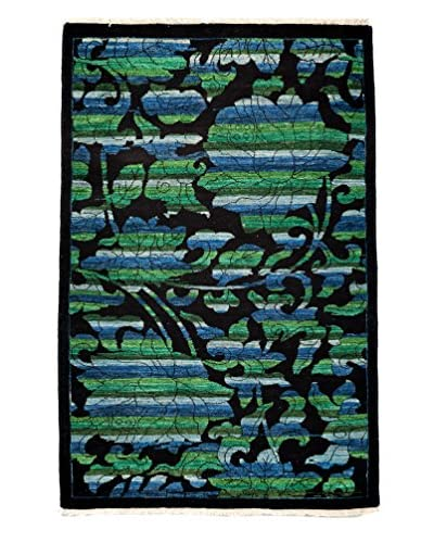 Darya Rugs Arts & Crafts Handmade Rug, Black, 3' x 5'