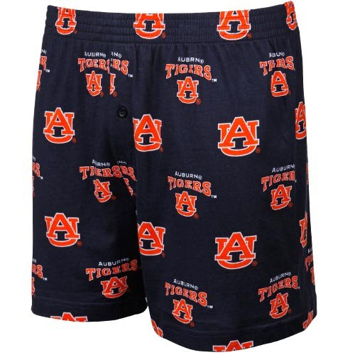 NCAA Auburn Tigers Supreme Men's Boxers, Navy, Small