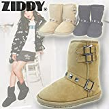 Ziddy(ジディー)スタッズ付きムートンブーツ (20-24cm/beige12) 1240-76011 (22cm)