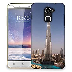 Snoogg Burj Khalifa Designer Protective Phone Back Case Cover For Coolpad Note 3 Lite