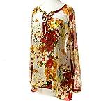 Lace Yoke Floral Print Top