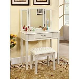 of america doris 2 piece vanity and stool set white vanity benches