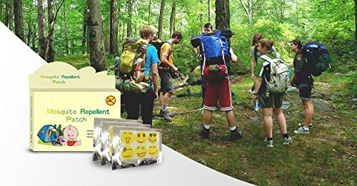 Mosquito Repellent Patch Helps Prevent Zika Virus DEET-FREE 2-PACK 48 PATCHES Citronella Eucalyptus Essential Oils Safe for Baby Children Use Camping Sporting Gardening Vacationing 12 Hour Protection