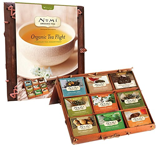 Numi Organic Tea, Organic Tea Flight Variety Gift Set in a Bamboo Tea Chest, 45 Count (Numi Chocolate Puerh compare prices)