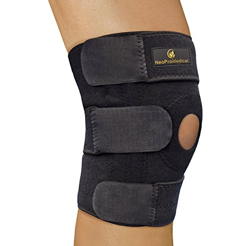 NeoProMedical Knee Support - Neoprene Breathable Knee Brace- Adjustable Size, Black Color