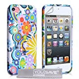 iPod Touch 5G Case Silicone Floral Rainbow Gel Coverby Yousave Accessories