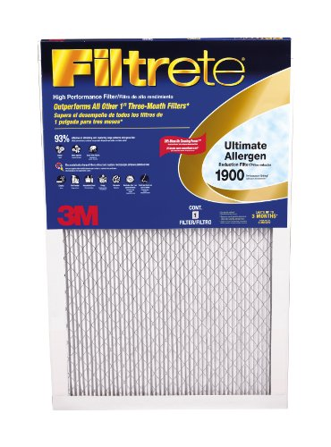 Filtrete Healthy Living Ultimate Allergen Reduction Filter, MPR 1900, 16 x 20 x 1-Inches, 4-Pack