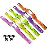 DelTex® Silicone Fasteners For Garmin Vivofit Wireless Wristband Bracelet (10 Pack)