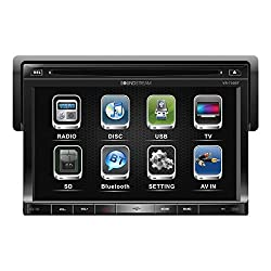 See Soundstream VR-730B 7 in. Bluetooth Enabled 1-DIN In-Dash Navigation Receiver with Touchscreen and USB-SD Inputs Details