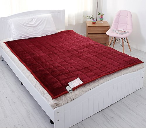Electric Heated Blankets Microfiber Various Color Warm Mattress Pad 110V- 240V Combination M : For Super Single Or Single Bed Size: 39.5X71Inch (100X180Cm) L : For Double Bed Size: 53X71Inch (135X180Cm) (L:53X71Inch, Wine)